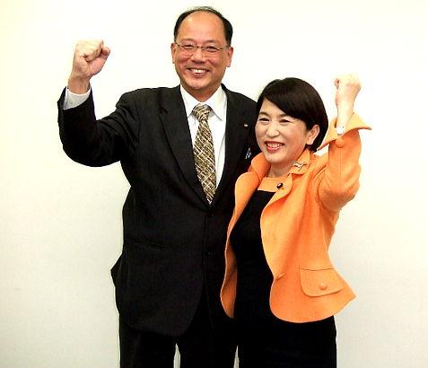 福島党首と(社民党県連合第16回定期大会にて)